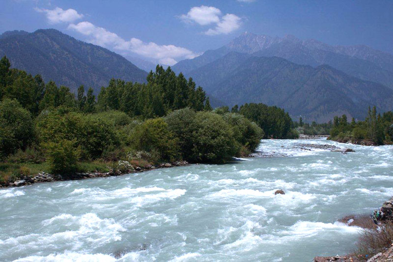 Lidder River Jammu Kashmir India