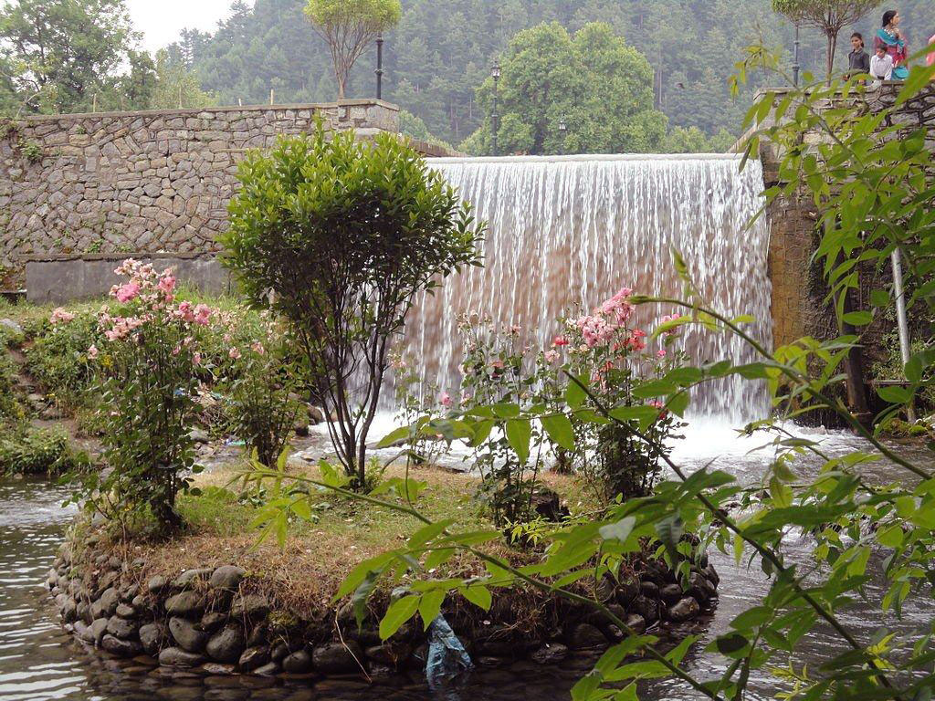 Waterfall at the end of Verinag Mughal Garden
