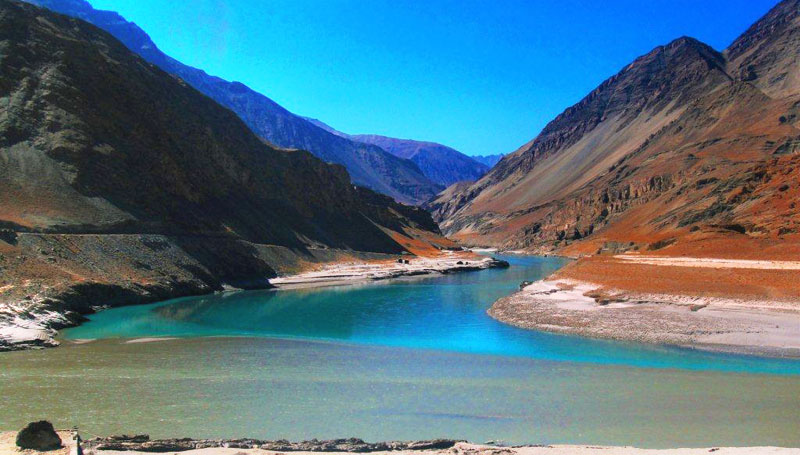 Zanskar River Meets with Indus River