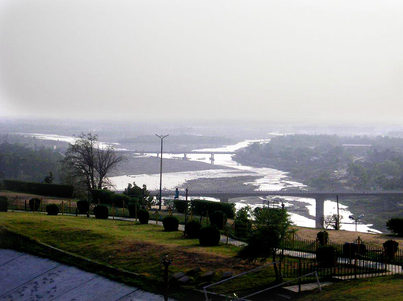 River Tawi From Bahu Fort Jammu